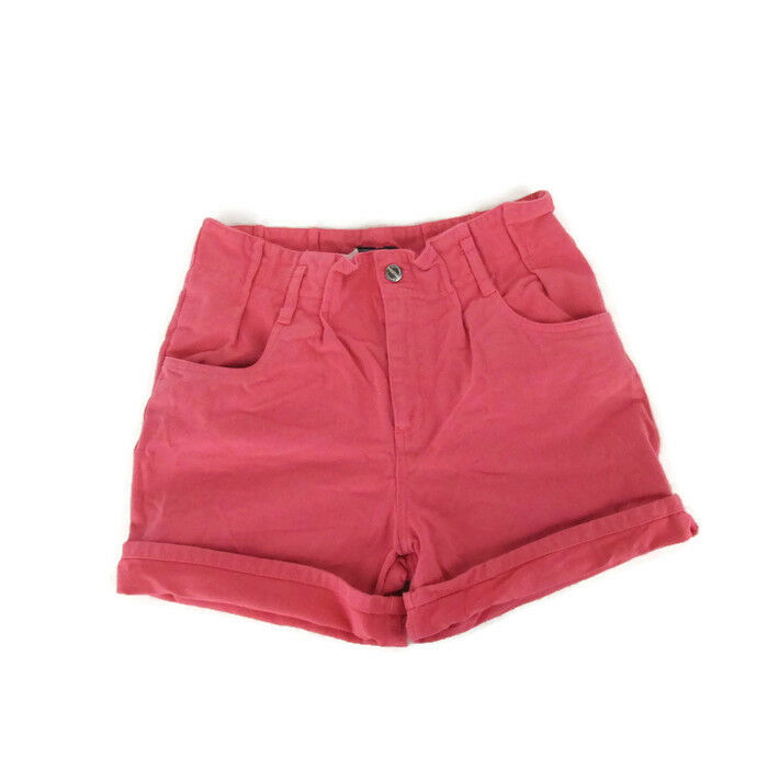 Vintage 90s colord Pink HIGH WAISTED WOMEN'S DENIM JEAN SHORTS 31  Waist