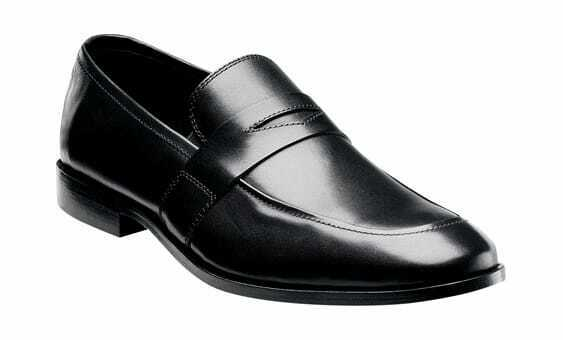 Florsheim Men's Jet Penny Black Smooth Leather Business shoes