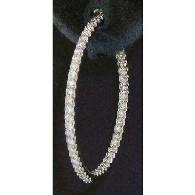 Roberto Coin 18K WG VS-SI/G 1.0CT diamond in/out hoop earrings w/ rubies