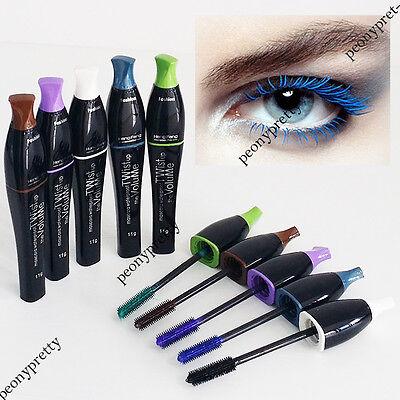 Waterproof blue purple black green brown mascara charming longlasting makeup