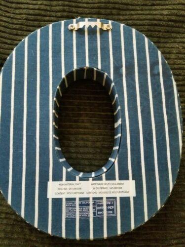 Blue White Stripe Alphabet Letter O Wall Hanging Shelf Mantel Decor Free Ship