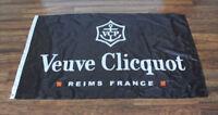Black Veuve Clicquot Flag Advertising Banner Wine Champagne Store Dealer Bar