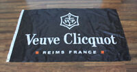 Black Veuve Clicquot Flag Advertising Banner Wine Champagne Store Dealer Bar