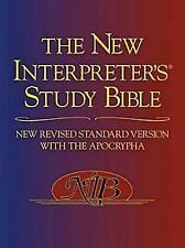 The New Interpreter's Study Bible : New Revised Standard Version with the Apocrypha (2003, Hardcover, Revised)