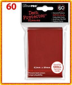 60 Ultra Pro DECK PROTECTOR Card Sleeves Red Yu-Gi-Oh Vanguard Card Protectors
