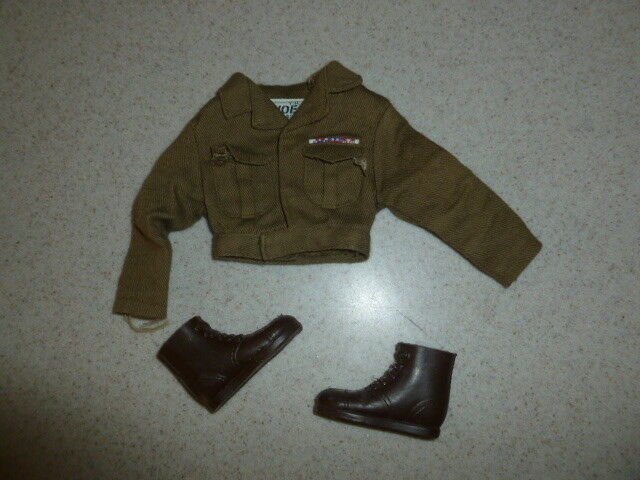 descuento de ventas en línea Vintage De Gi Joe Joe Joe 1964-1966 Ejército Militar Policía Conjunto de chaqueta y botas  primera vez respuesta