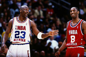 70034b0214d Michael Jordan Kobe Bryant Candid at All-Star Game 24x36 Poster NBA ...
