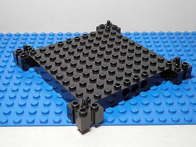LEGO LEGOS Light Gray 4 X 12 Car Base with 4 Wheels Black Tires  9.5 cm long