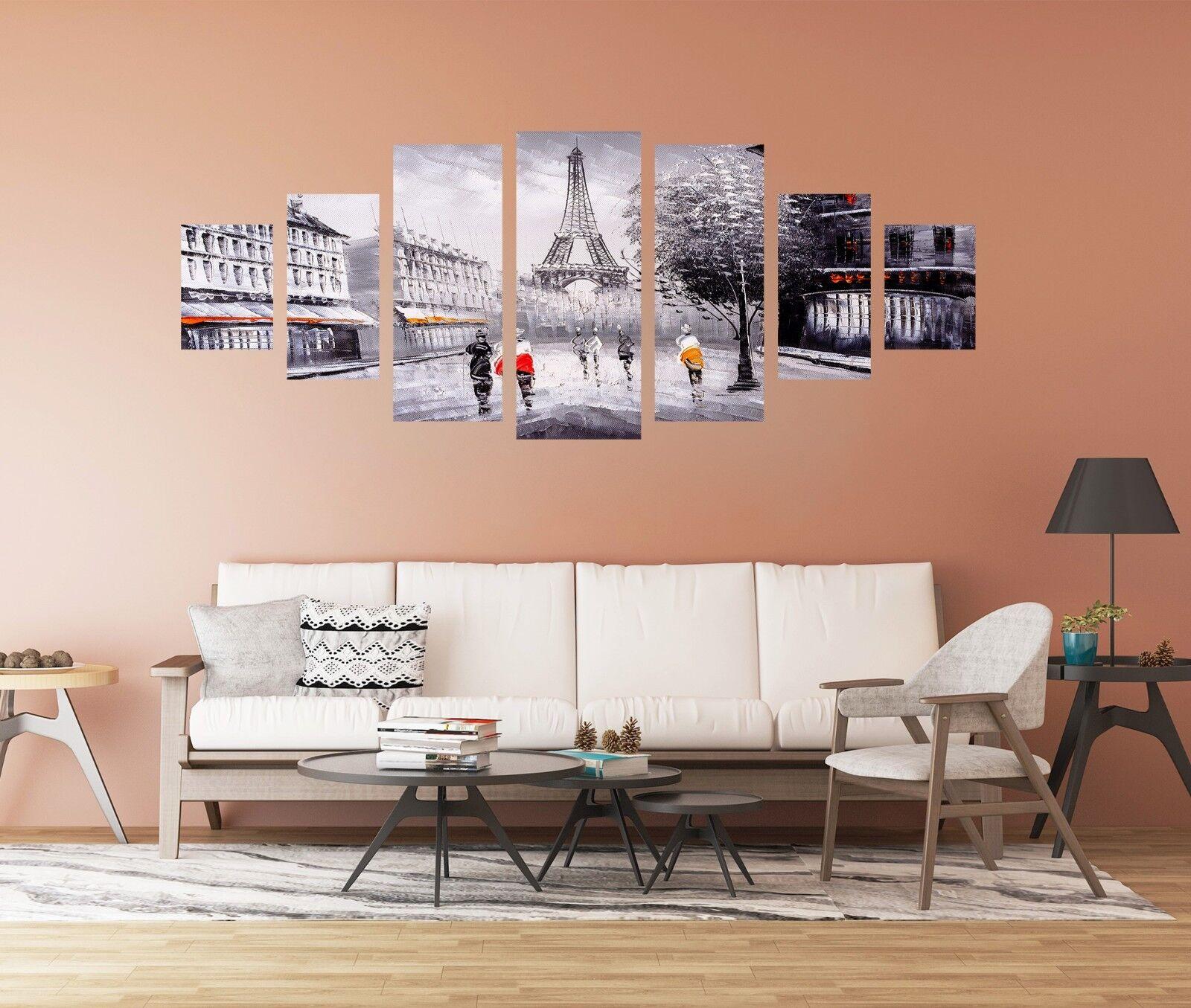 3D City Street Tower Sketch 126 Unframed Print Wall Paper Deco Indoor AJ Summer
