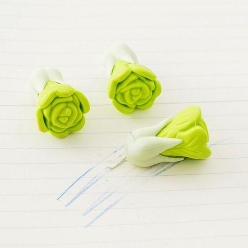 Kids Pencil Eraser Cute Vegetables Rubber School Stationery Pencils Erasers 2PCS
