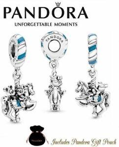 Details about Authentic PANDORA S925 Ale Disney Parks Mickey & Minnie  Dangle Carousel Charm