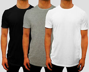 NEW-3-PACK-MENS-PLAIN-CREW-NECK-T-SHIRT-EURO-FIT-S-3XL-CASUAL-GYM-WORK-SPORT