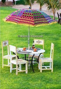 Bon Image Is Loading 3 Big Garden Umbrellas Outdoor Patios Hand Embroidery