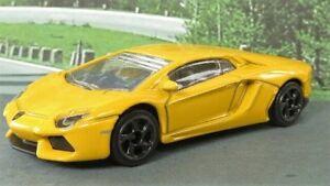 LAMBORGHINI-AVENTADOR-1-64-Yellow-Majorette-Diecast-Sports-Car