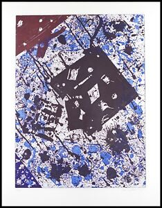 Sam Francis Etching Aquatint Original Ltd Ed Modern Abstract Art Print 1982 COA