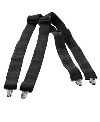 HALVARSSONS BLACK LEATHER BELT WITH ADJUSTABLE METAL BUCKLE 3 SIZES AVAILABLE