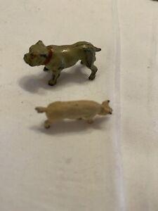 England-Prewar-Bulldog-amp-Pig-Farm-Animals-For-Model-Train-Help-A-Widow-Buy