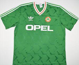 Mentor superstición Mezclado  1990-1992 Irlanda Adidas Hogar Camiseta de fútbol (talla Xl) | eBay