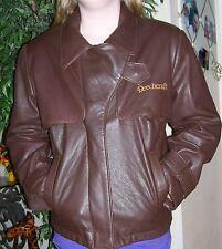 Beechcraft Perrone Aviation Apparel Brown Leather Pilot Flight Coat Jacket Sz 10
