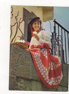 Las-Palmas-de-Gran-Canaria-El-Pueblo-Canario-Bella-Florista-1971-Postcard-445a