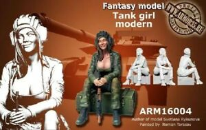 1-35-Resin-Figure-Model-Kit-Sexy-Girl-Tank-Modern-WWII-Unpainted-Unassembled