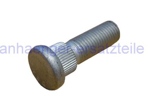 HGW Radbolzen mit 14 mm Riffelbund M12 1,5