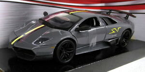 Details About Motormax 1 24 Scale Lamborghini Murcielago Lp670 4 Sv Grey Diecast Model Car