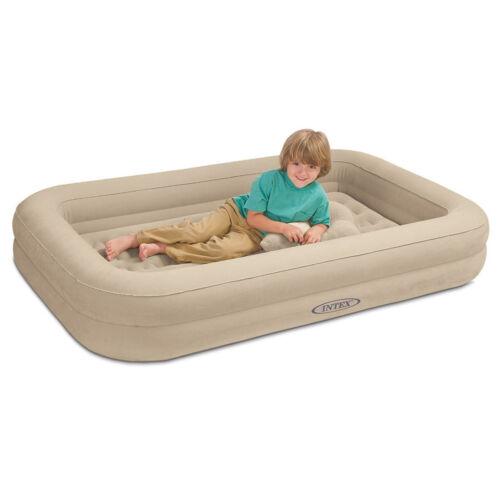 INTEX Reisebett Kinderbett 107x168x25cm Luftbett mit Pumpe Gästebett Bett Camping-Schlafausrüstung Camping & Outdoor