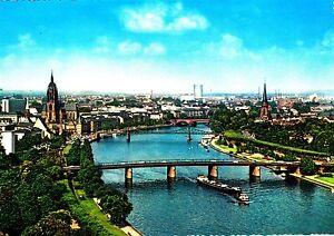 Frankfurt-Main-Mainpartie-mit-Dom-Ansichtskarte-1968-gelaufen