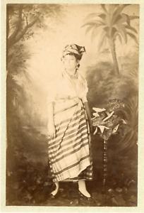 Martinique-Fort-de-France-Creole-blanchiseuse-Vintage-albumen-print-Tirag