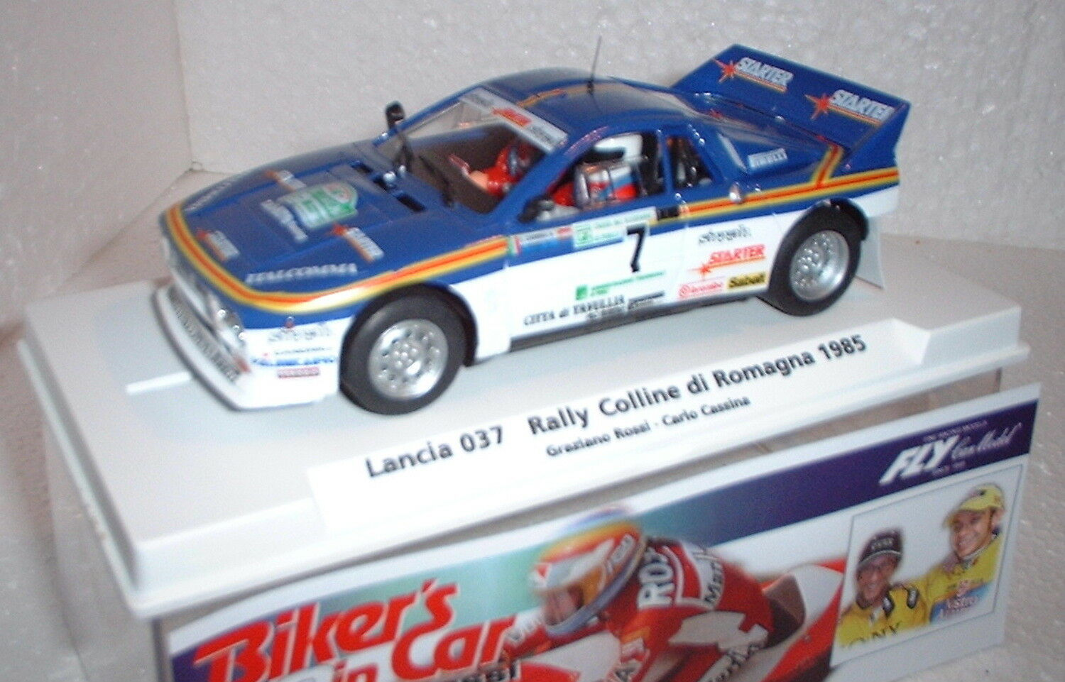 Qq 99103 FLY MOTARDS DANS CAR 02 LANCIA 037 R COLL ROMAGNE '85   7 GRAZZIANO