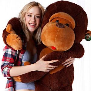 Giant-Huge-Large-Big-Stuffed-Animal-Soft-Plush-Brown-Monkey-Doll-Plush-Toy