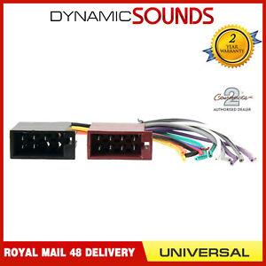 ct20uv03 universal car stereo wiring harness adaptor female iso to rh ebay co uk universal car radio wiring harness