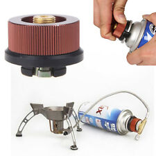 New Outdoor Camping Burner Conversion Head Stove Connector Gas Bottle Adaptor *