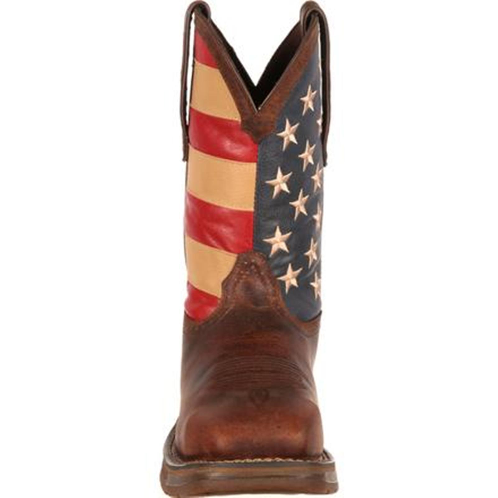 Little-known Men´s Rebel by Durango Steel Toe Flag Western