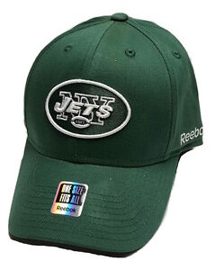 finest selection 553de 28790 Image is loading Reebok-New-York-Jets-Flex-Fit-Sideline-Cap-