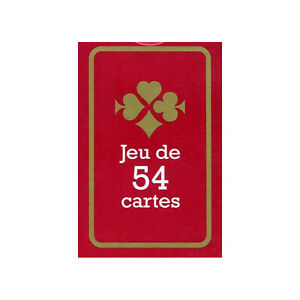 JEU DE 54 CARTES - FORMAT POKER - FRANCE CARTES - DOS ROUGE - ETUI CARTON  NEUF