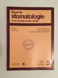 Revista de Estomatología Y Cirugía Maxilofacial Masson Tomo 76 N º 3 1975