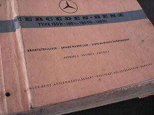Mercedes-Benz-180-b-manuel-de-pieces-detachees-original