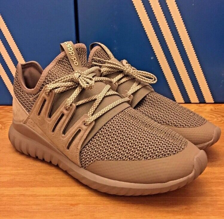Men's 8 ADIDAS Tubular Radial Gray Grey Sneaker Boost