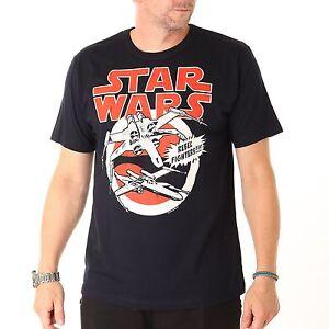 Star-Wars-Logoshirt-X-Alas-Camiseta-T-Shirt-Camisa-Para-Hombres-azul-marino