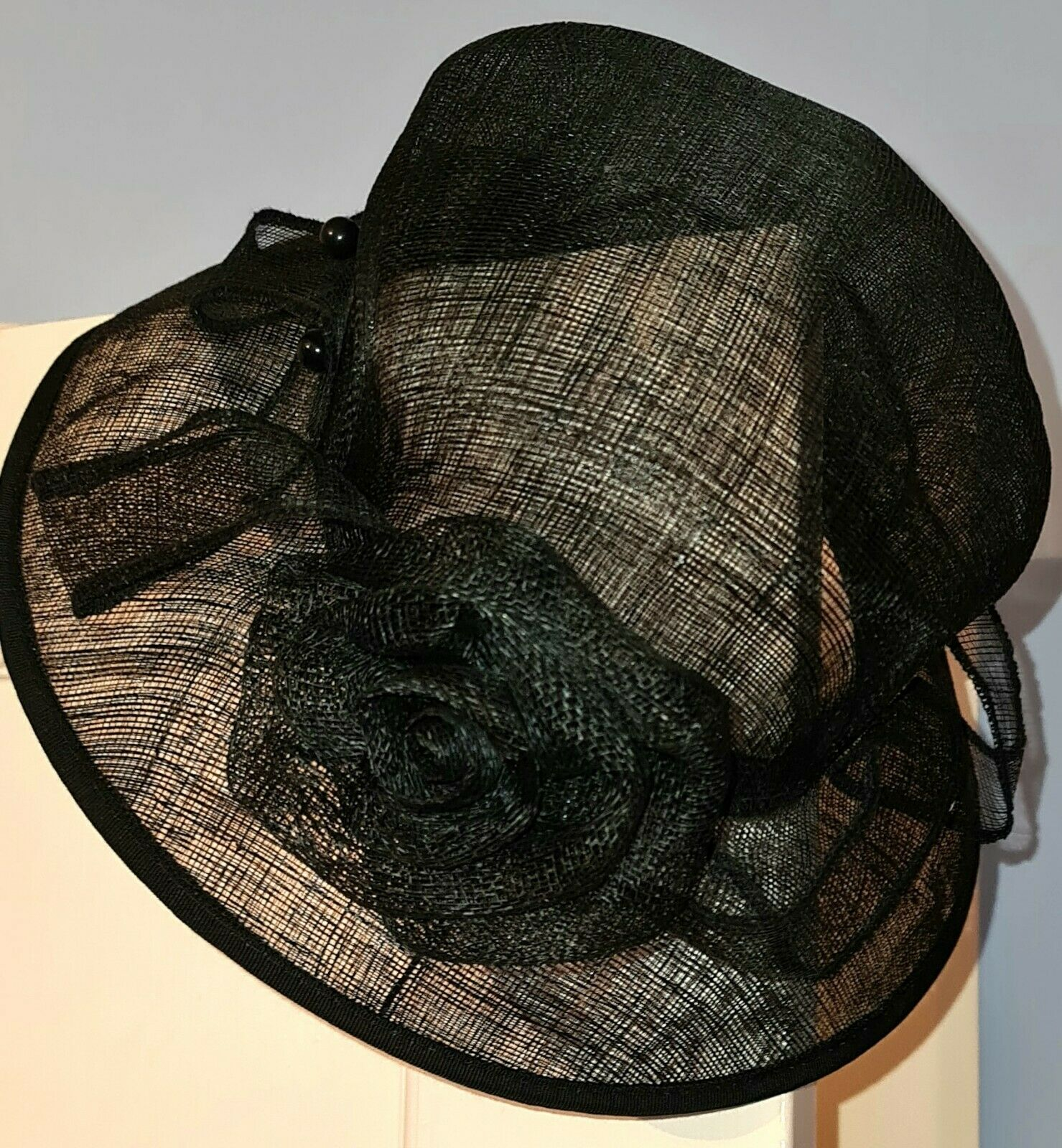 Mother Of Bride Groom Races Funeral Special Occasion Black Hat