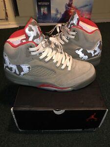 029a689dbdd Nike Air Jordan 5 Retro P51 Men s Size 9.5 Camo Camouflage Dark ...