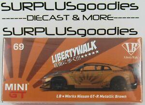 TSM-Model-Mini-GT-Indonesia-Exclusive-LB-Works-LibertyWalk-NISSAN-GT-R-Met-Brown