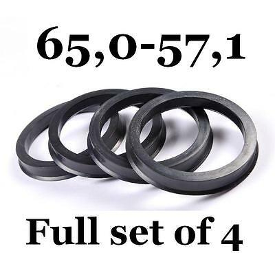 FREE SHIPPING HUB CENTRIC RINGS 66.6 to 57.1 VW SPIGOT RINGS 66,6 mm - 57,1 mm