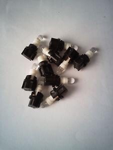10x Amber LED /& Sockets Dash Instrument Panel Light Bulb T5 70 73 74 Fits Toyota