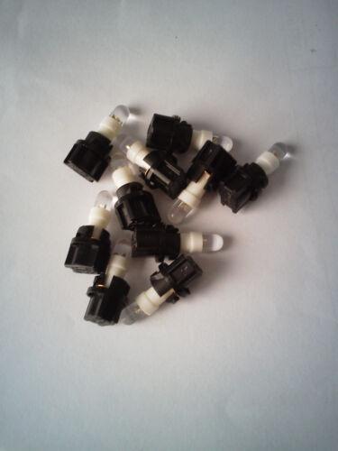 10x White LED /& Sockets Dash Instrument Panel Light Bulb T5 37 74 Fits Chrysler