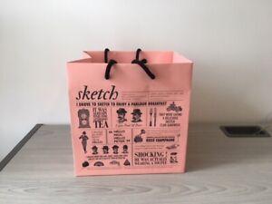 Used-Sketch-Mayfair-Restaurant-Breakfast-Parlour-Cardboard-Carrier-Bag-Pink