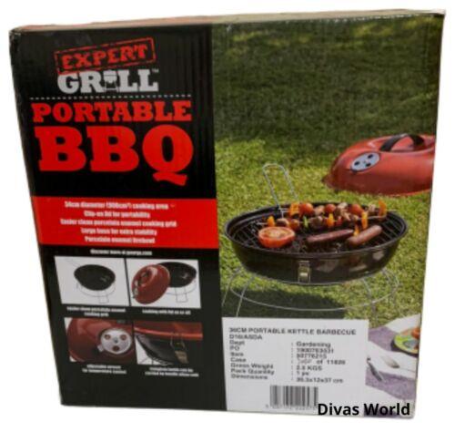 Kettle Grill Barbecue Carbone All/'aperto Patio Cucina Picnic Rotondo Verde 36cms