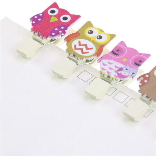 10pc Cute Cartoon Owls Wooden Clip DIY Photo Paper Peg Clothespin Craft Supplies